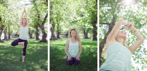 Kelly in a variety of yoga poses.